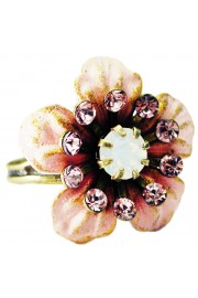 Michal Negrin Pink Lilac Flower Ring