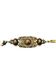 Michal Negrin Metal-Lace Roses Cameos Bracelet