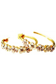 Michal Negrin Gold Plated Hoop Earrings