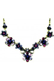 Michal Negrin Purple Swirl Flowers Necklace