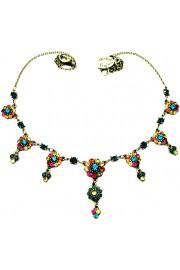 Michal Negrin Multicolor Drops Necklace