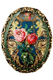 Michal Negrin Antique Oval Cameo Brooch