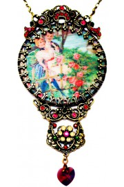 Michal Negrin Lenticular Romance Necklace