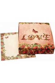 Michal Negrin Victorian Roses Memo Notes Box