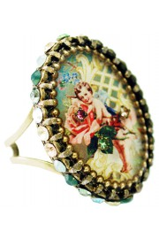 Michal Negrin Cupid Cameo Ring