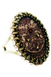 Michal Negrin Dark Roses Cameo Ring
