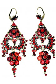 Michal Negrin Red Drama Earrings