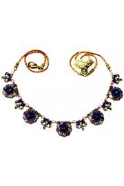 Michal Negrin Purple Circles Necklace