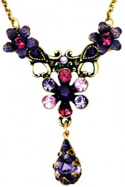 Michal Negrin Purple Lilac Teardrop Necklace