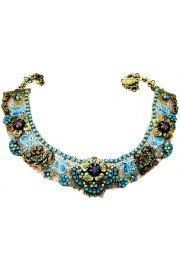 Michal Negrin Turquoise Floral Net Choker