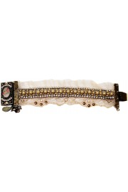 Michal Negrin Pearl Lace Cameo Bracelet