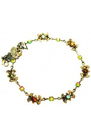 Michal Negrin Earth Tones Floral Anklet
