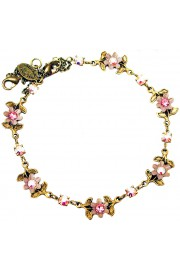 Michal Negrin Pink Aurora Borealis Floral Anklet