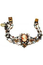 Michal Negrin Bronze Aqua Woman Cameo Crystals Bracelet