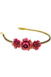 Michal Negrin Fuchsia Roses Headband