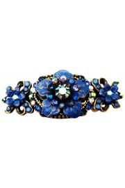 Michal Negrin Blue Floral Hair Clip