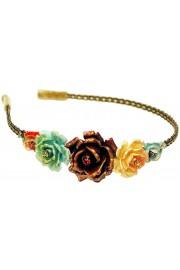 Michal Negrin Multicolor Roses Headband