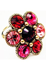 Michal Negrin Pink Fuchsia Red Daisy Ring