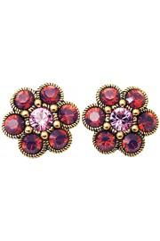 Michal Negrin Purple Daisy Clip Earrings