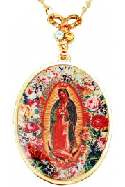 Michal Negrin Christian Iconography Medallion Necklace