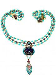 Michal Negrin Turquoise Purple Noa Deco Necklace