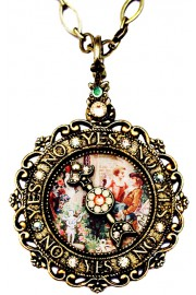 Michal Negrin Yes No Spinner Antique Necklace