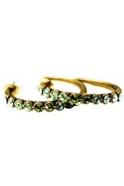Michal Negrin Green Swirl Row Hoop Earrings