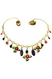 Michal Negrin Pink Green Purple Tokyo Necklace
