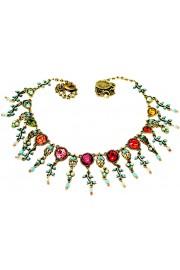 Michal Negrin Multicolor Round Crystals Necklace
