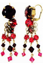 Michal Negrin Fuchsia Purple Red Earrings