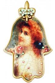 Michal Negrin Victorian Girl Wall Hamsa