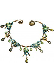 Michal Negrin Turquoise Woman Cameo Necklace