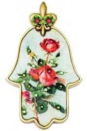Michal Negrin Vintage Roses Hamsa