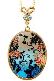 Michal Negrin Art Nouveau Medallion Necklace