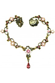 Michal Negrin Pink Pearl Ornate Necklace
