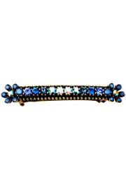 Michal Negrin Blue Swirl Floral Hair Clip Barrette