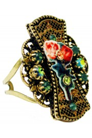Michal Negrin Filigree Roses Ring