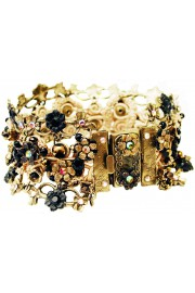 Michal Negrin Black Gold Crochet Bracelet