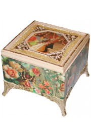 Michal Negrin Vintage Wedding Ornate Jewelry Box