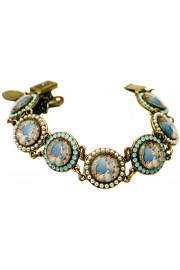 Michal Negrin Doves Round Cameos Bracelet