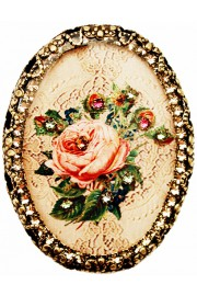 Michal Negrin Victorian Rose Oval Cameo Brooch