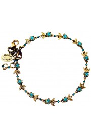Michal Negrin Turquoise Floral Anklet