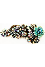 Michal Negrin Crystals Rose Lace Hair Clip