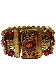 Michal Negrin Red Rose Cameo Bracelet