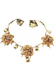 Michal Negrin Nude Vintage Roses Necklace