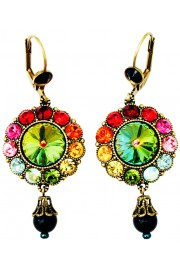Michal Negrin Multicolor Round Drop Earrings
