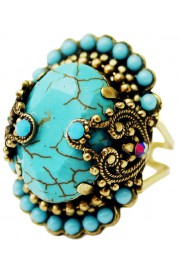 Michal Negrin Vintage Turquoise Noa Ring