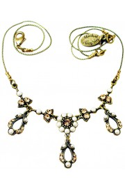 Michal Negrin Pearl Gold Delicate Drops Necklace