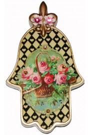 Michal Negrin Victorian Roses Wall Hamsa