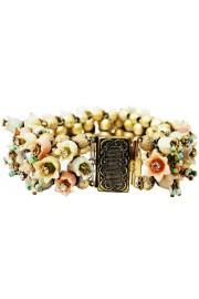 Michal Negrin Vintage Pastel Bells Bracelet